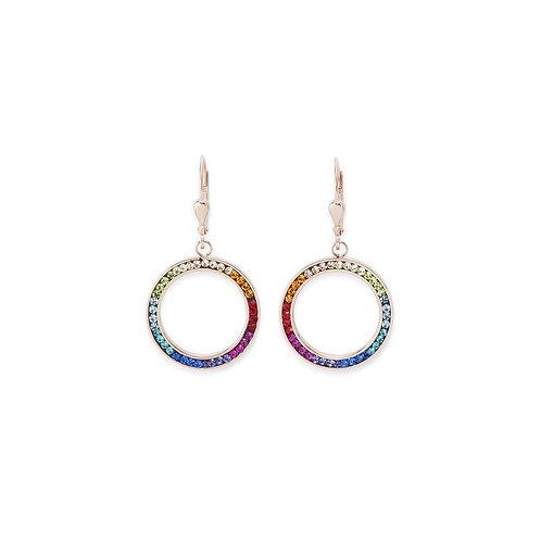 Coeur de Lion Multi Colour Pave Crystal Drop Hook Earrings