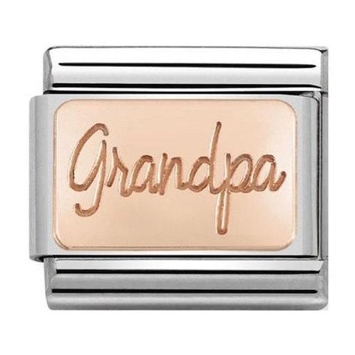 Nomination Rose Gold Grandpa