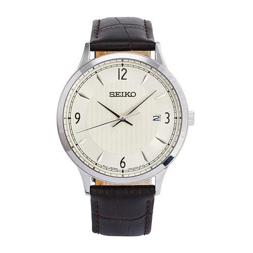 Seiko Classic Men's Cream Dial Watch