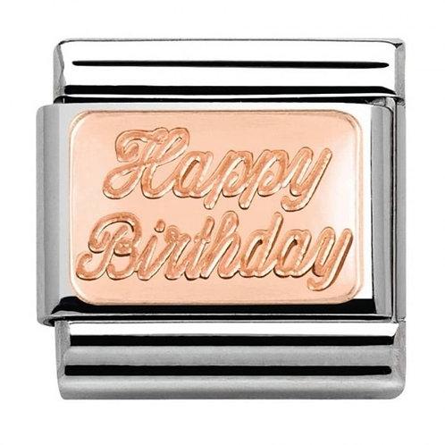 Nomination Rose Gold Happy Birthday