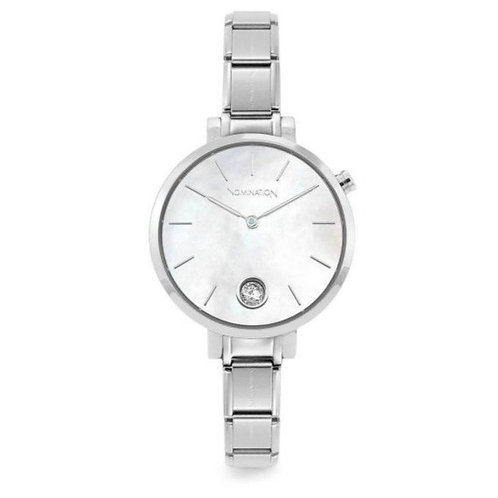 Nomination Classic Silver Mother of Pearl & CZ Watch