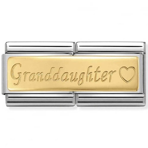 Nomination Gold Double Granddaughter