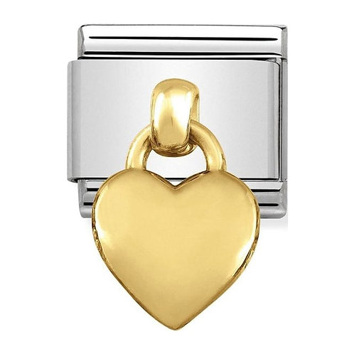 Nomination Gold Drop Heart