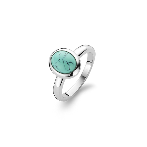 Ti Sento Turquoise Oval Ring - Size L