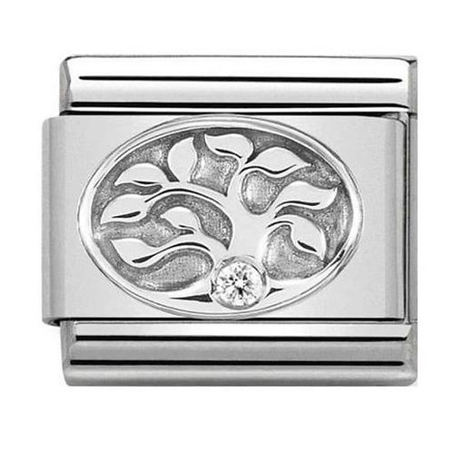 Nomination Silver CZ Tree of Life