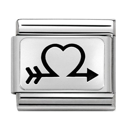 Nomination Silver Heart with Arrow