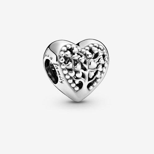 Family Tree Heart Charm