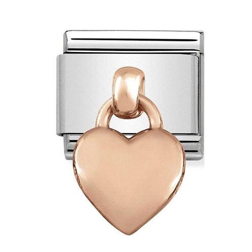 Nomination Rose Gold Drop Heart