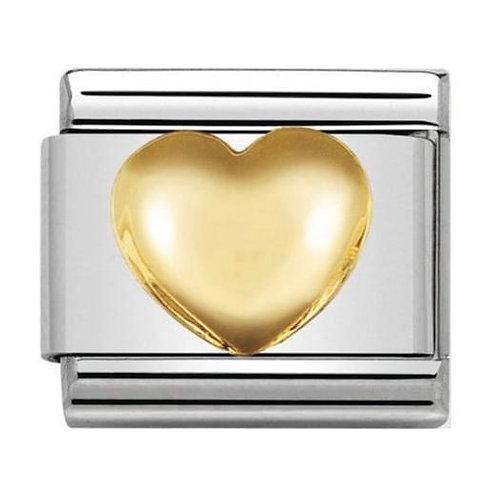 Nomination Gold Raised Heart