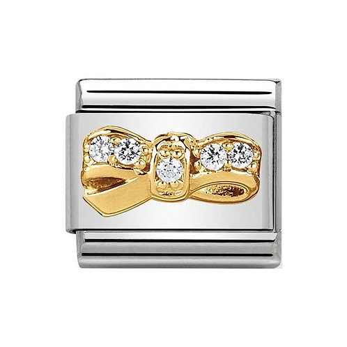 Nomination Gold CZ Bow