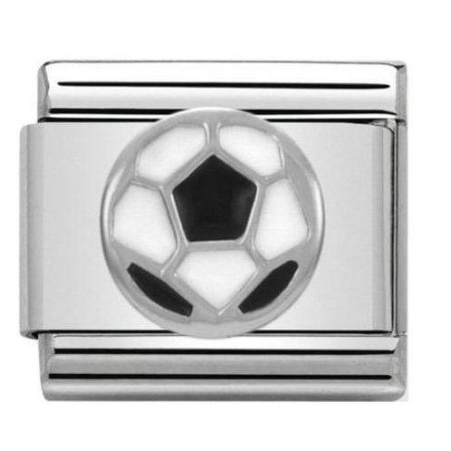 Nomination Silver Black & White Football
