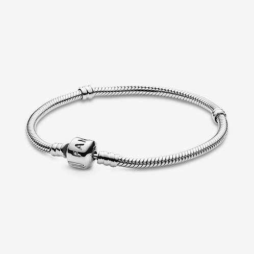 Barrel Clasp Snake Chain Bracelet