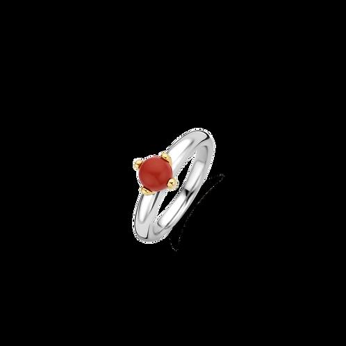 Ti Sento Coral Red Ring