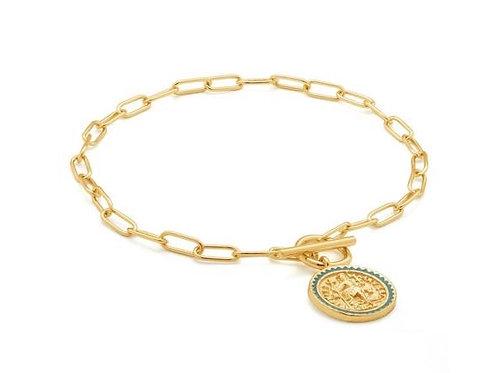 Gold Emperor T-bar Bracelet