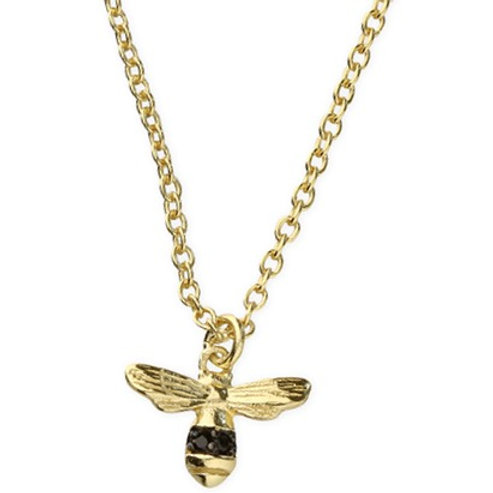 Sterling Silver Gold-Plated Mini Bee Necklace