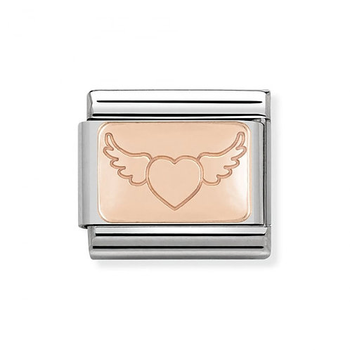 Nomination Rose Gold Heart with Wings