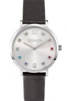 Coeur de Lion Ladies Silver Grey Multi Stone Watch