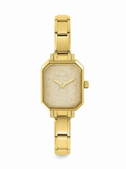 Nomination Paris Classic Yellow Rectangular & Gold Glitter Dial Watch
