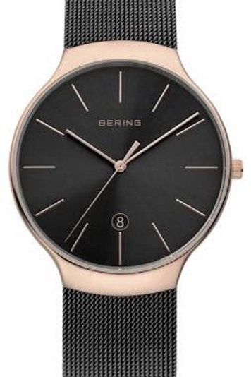 Bering Classic Rose Plate Mesh Strap Watch