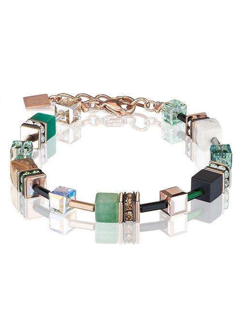 Coeur de Lion GeoCube Green & Rose Bracelet