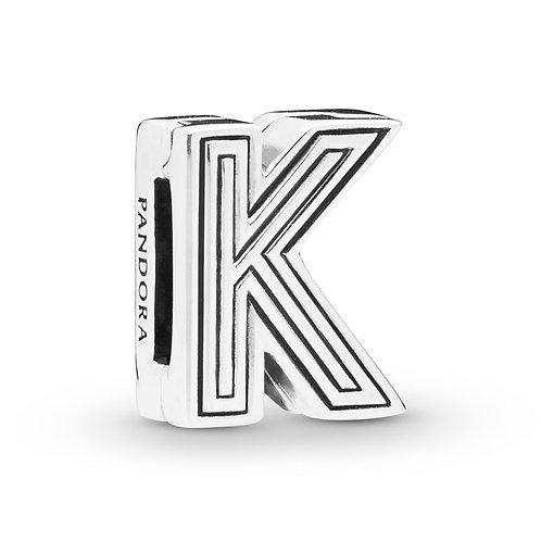 Reflexions Letter K Clip Charm