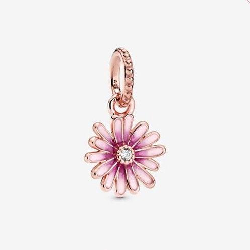 Pink Daisy Flower Dangle