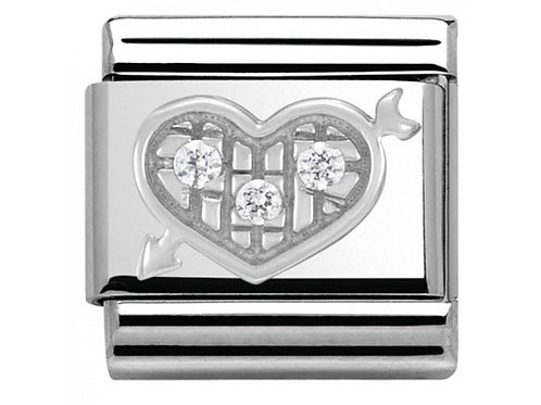 Nomination Silver CZ Heart with Arrow