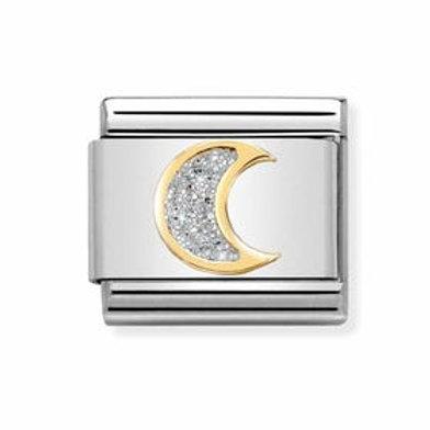 Nomination Gold Glitter Moon