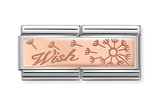 Nomination Double Rose Gold Wish with Dandelion