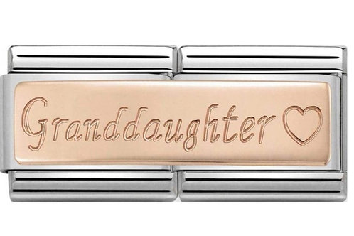 Nomination Double Rose Gold Granddaughter with Heart