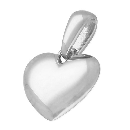 Sterling Silver Small Solid Silver Heart