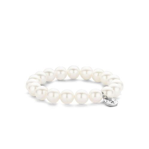 Ti Sento Elastic Pearl Bracelet