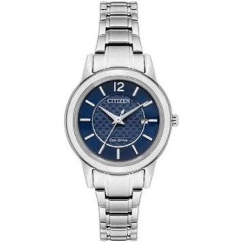 Citizen Ladies Blue Dial Silver Bracelet Watch