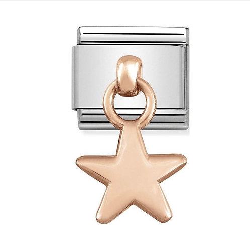 Nomination Rose Gold Drop Star