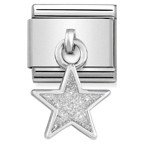 Nomination Silver Glitter Star Drop