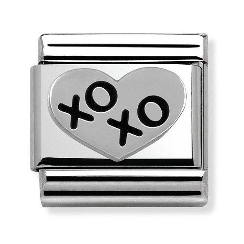 Nomination Silver Black XOXO Heart