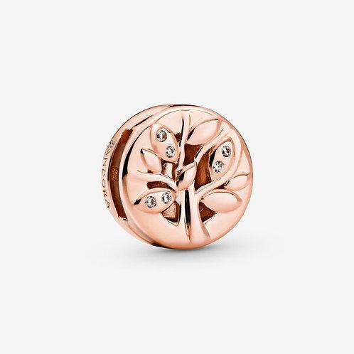 Rose Sparkling Family Tree Clip Charm