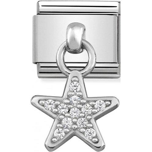 Nomination Silver Drop CZ Star