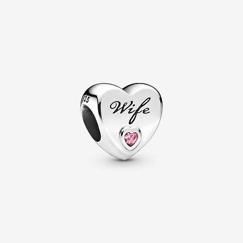 Wife Love Heart Charm