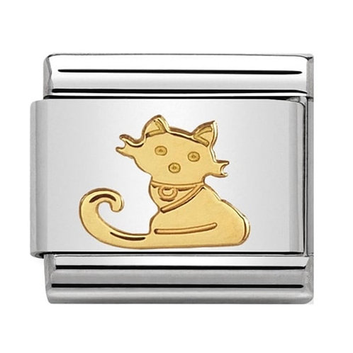 Nomination Gold Seated Cat