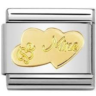 Nomination Gold Hearts Be Mine