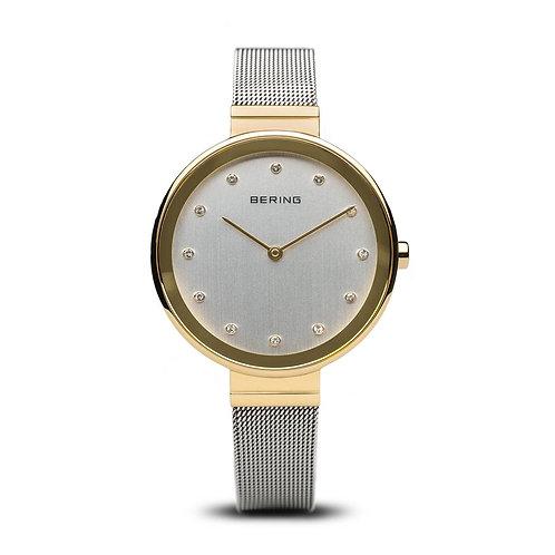 Bering Classic Polished Gold Mesh Watch