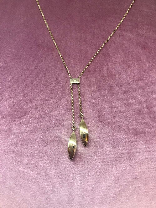 9ct Gold Double Drop Necklace