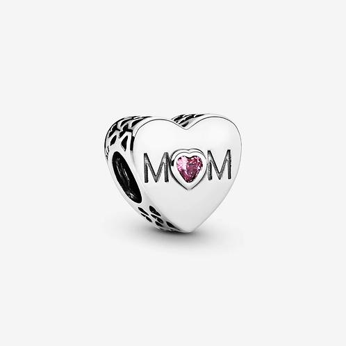 Pink Mum Heart Charm