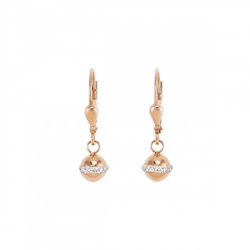 Coeur de Lion Rose Gold Stainless Steel Earrings