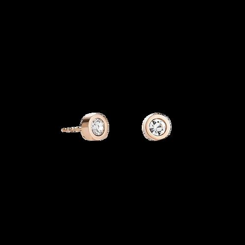 Coeur de Lion Rose & Clear Stud Earring