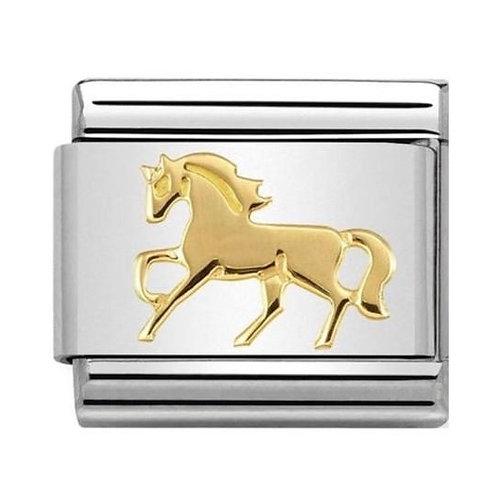 Nomination Gold Galloping Horse