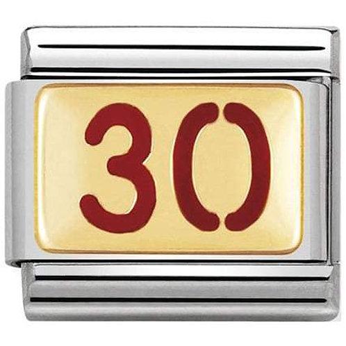 Nomination Gold & Red Enamel 30