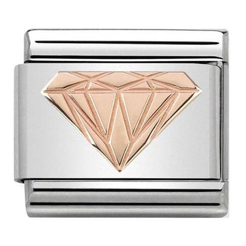 Nomination Rose Gold Brilliant Diamond