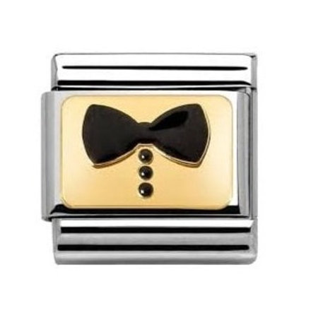Gold and Enamel Bow Tie